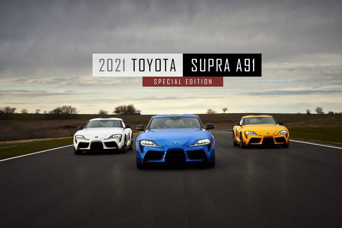 Toyota GR Supra Races Into 2021 with More Power and First-Ever Four-Cylinder Turbo Model...